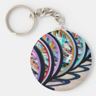 Arco iris de bicicletas llaveros