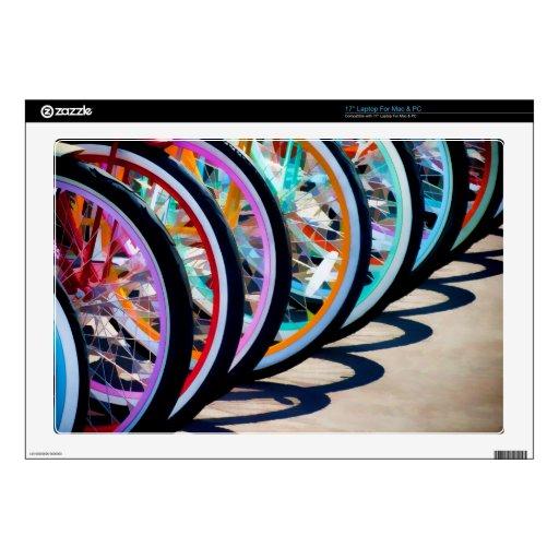 Arco iris de bicicletas skins para portátil