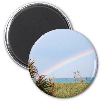 Arco iris de Cabo Cañaveral Imán Redondo 5 Cm