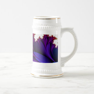 Arco iris de colores en esta flor del fractal taza