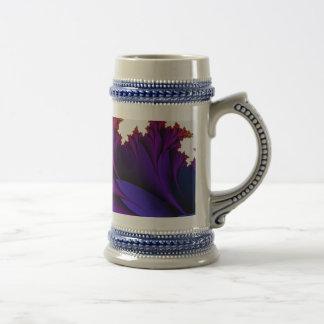 Arco iris de colores en esta flor del fractal taza de café