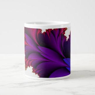 Arco iris de colores en esta flor del fractal tazas extra grande