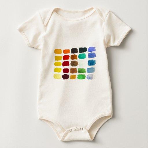 arco iris de colores traje de bebé