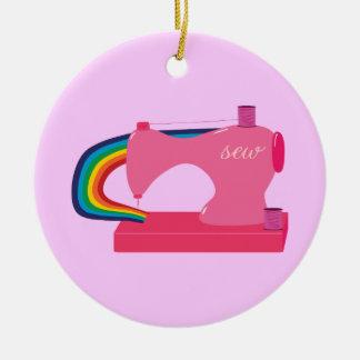 Arco iris de costura ornaments para arbol de navidad