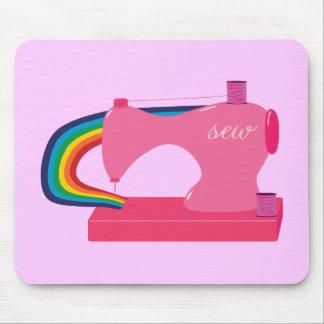 Arco iris de costura mouse pads