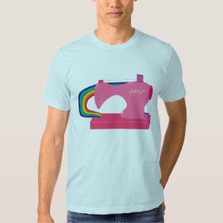 Arco iris de costura playera