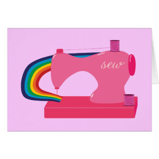 Arco iris de costura tarjeta de felicitación
