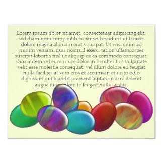 Arco iris de diez huevos de Pascua Invitación 10,8 X 13,9 Cm