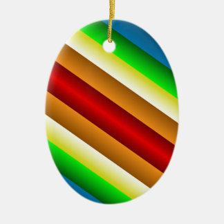 Arco iris de doble filo de Liquidartz Adorno Navideño Ovalado De Cerámica