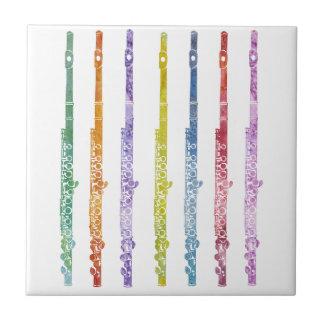 Arco iris de flautas azulejo ceramica