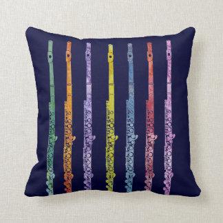 Arco iris de flautas cojín decorativo