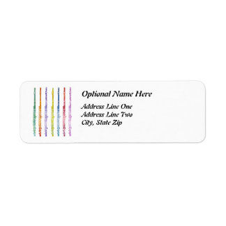 Arco iris de flautas etiqueta de remitente