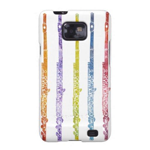 Arco iris de flautas galaxy s2 fundas