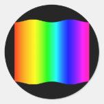 Arco iris de Funhouse Pegatina