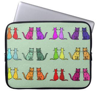 Arco iris de gatos manga portátil