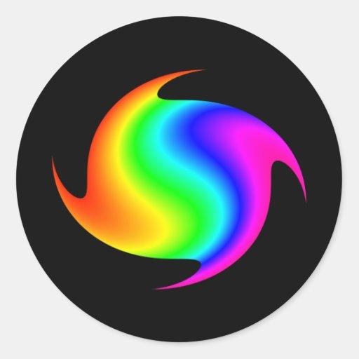 Arco iris de giro pegatinas