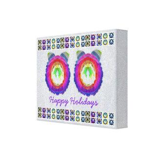 Arco iris de HappyHolidays verdad - frontera de la Impresión En Lona