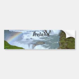 Arco iris de Islandia Pegatina Para Auto