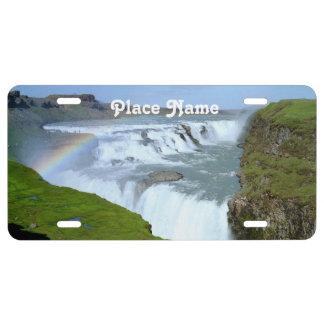 Arco iris de Islandia Placa De Matrícula