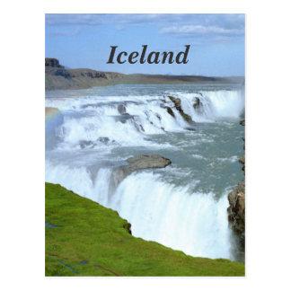 Arco iris de Islandia Tarjeta Postal