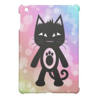 Arco iris de Kawaii y gato negro