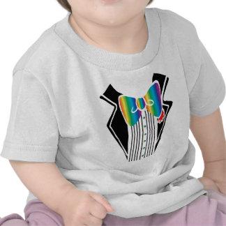 Arco iris de la camisa del smoking