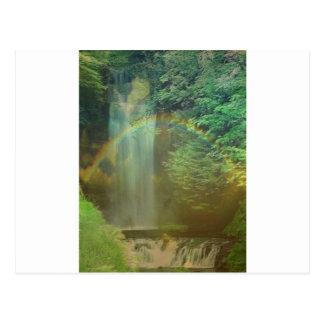 arco iris de la cascada postales