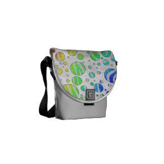 Arco iris de la cebra e impresión blanca bolsa de mensajeria