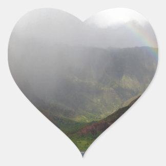 Arco iris de la costa de Napali de la montaña Colcomanias De Corazon Personalizadas