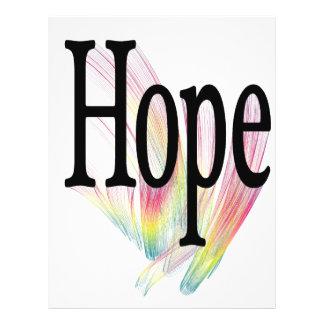 Arco iris de la esperanza tarjetón
