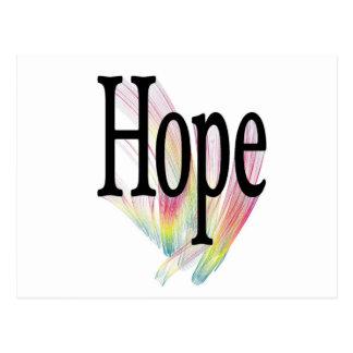 Arco iris de la esperanza tarjetas postales