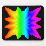 Arco iris de la estrella tapetes de ratón