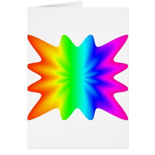 Arco iris de la estrella tarjeta de felicitación