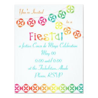 Arco iris de la fiesta invitación 10,8 x 13,9 cm