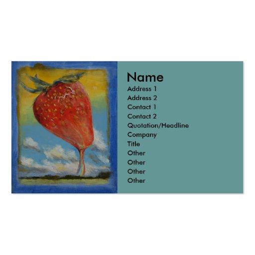 Arco iris de la fresa tarjetas de visita