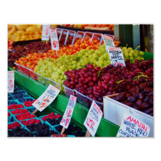 Arco iris de la fruta póster