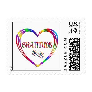 Arco iris de la gratitud coloreado sellos