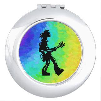 Arco iris de la guitarra de las noches de la espejo de viaje