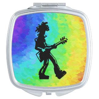 Arco iris de la guitarra de las noches de la espejo de maquillaje