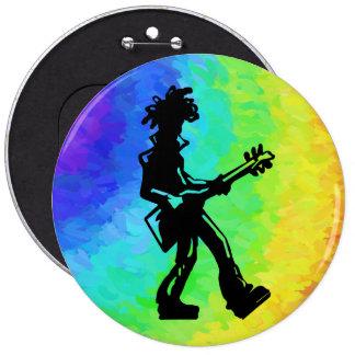 Arco iris de la guitarra de las noches de la pin redondo de 6 pulgadas