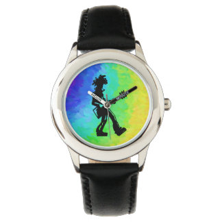 Arco iris de la guitarra de las noches de la relojes de mano