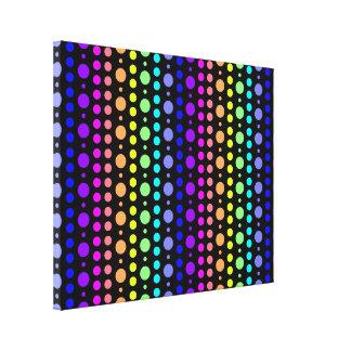 Arco iris de la impresión de la lona de los puntos
