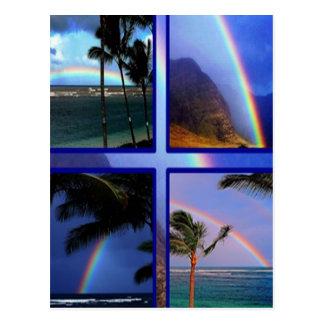 Arco iris de la isla hawaiana tarjeta postal