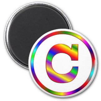 Arco iris de la letra C Imanes
