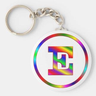 Arco iris de la letra E Llaveros Personalizados