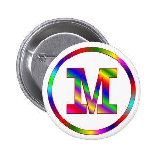 Arco iris de la letra M Pins