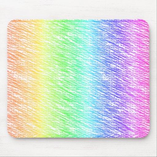 Arco iris de la marca de rayitas cruzadas alfombrillas de ratones