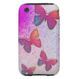 Arco iris de la mariposa tough iPhone 3 fundas