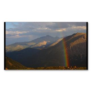 Arco iris de la montaña rocosa tarjetas de visita magnéticas (paquete de 25)