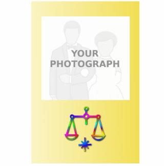 Arco iris de la muestra de la estrella del zodiaco escultura fotografica